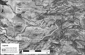mapa Baktrie